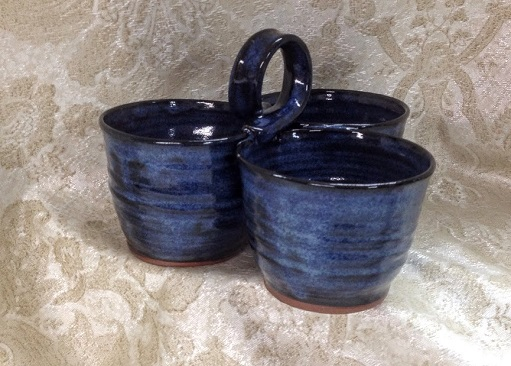 bluejean pottery by Debra Ocepek, condiment server